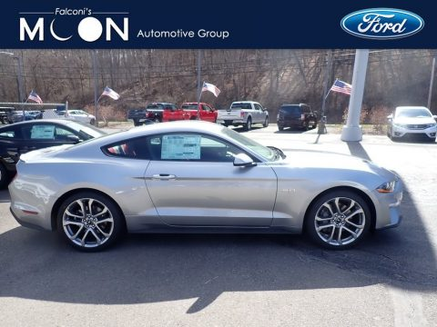 Iconic Silver Metallic Ford Mustang GT Premium Fastback.  Click to enlarge.