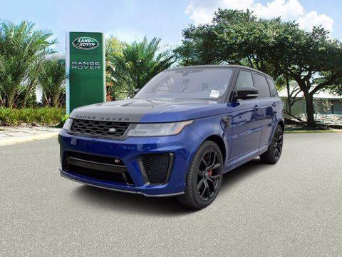 Estoril Blue Metallic Land Rover Range Rover Sport SVR Cabon Edition.  Click to enlarge.