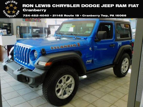Hydro Blue Pearl Jeep Wrangler Islander 4x4.  Click to enlarge.