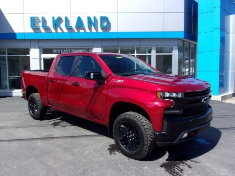 Cherry Red Tintcoat Chevrolet Silverado 1500 LT Trail Boss Crew Cab 4x4.  Click to enlarge.
