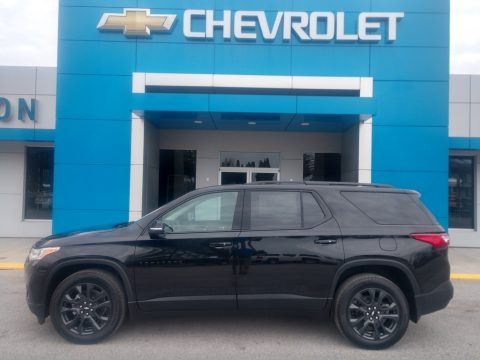Mosaic Black Metallic Chevrolet Traverse RS AWD.  Click to enlarge.