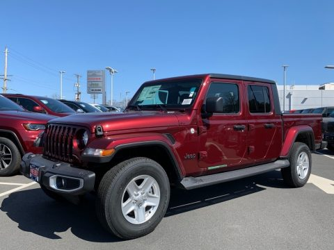 Snazzberry Pearl Jeep Gladiator Sport 4x4.  Click to enlarge.