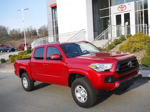 Barcelona Red Metallic Toyota Tacoma SR5 Double Cab 4x4.  Click to enlarge.