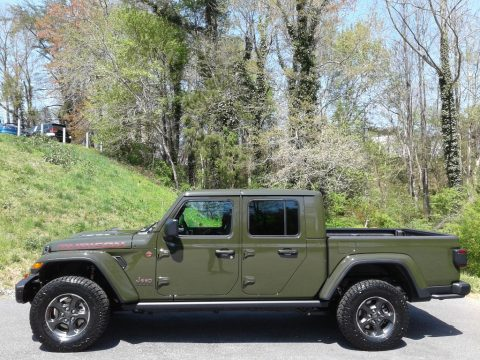 Sarge Green Jeep Gladiator Rubicon 4x4.  Click to enlarge.