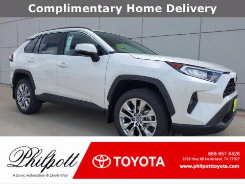 Blizzard White Pearl Toyota RAV4 XLE Premium.  Click to enlarge.