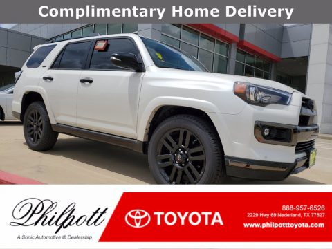 Blizzard White Pearl Toyota 4Runner Nightshade.  Click to enlarge.