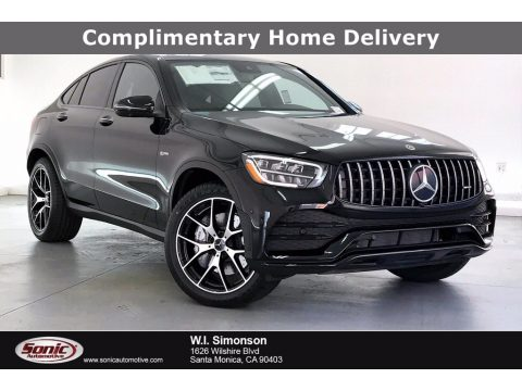 Black Mercedes-Benz GLC AMG 43 4Matic Coupe.  Click to enlarge.