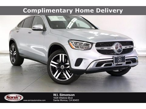 Cirrus Silver Metallic Mercedes-Benz GLC 300 4Matic Coupe.  Click to enlarge.