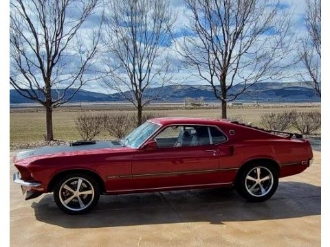 Red Ford Mustang Mach 1.  Click to enlarge.