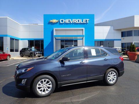 Storm Blue Metallic Chevrolet Equinox LS.  Click to enlarge.