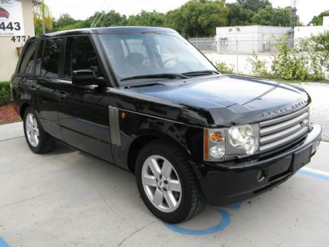 Java Black Metallic 2003 Land Rover Range Rover HSE with Charcoal/Jet Black