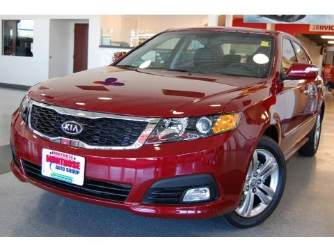 Ruby Red 2009 Kia Optima SX with Black interior Ruby Red Kia Optima SX.