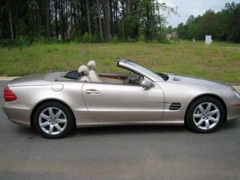 Desert Silver Metallic Mercedes-Benz SL 500 Roadster.  Click to enlarge.