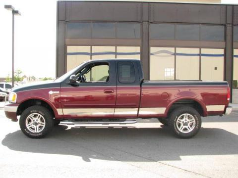 Burgundy Red Metallic Ford F150 Heritage Edition Supercab 4x4.  Click to enlarge.