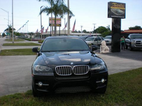 Black Sapphire Metallic 2009 BMW X6 xDrive50i with Black Nevada Leather