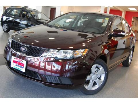 Dark Cherry 2010 Kia Forte EX with Coffee interior Dark Cherry Kia Forte EX.