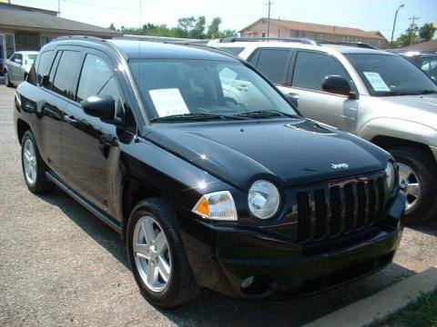 Black 2007 Jeep Compass Sport 4x4 with Pastel Slate Gray interior Black Jeep