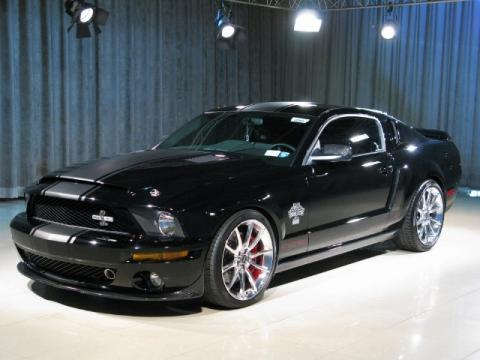 Black Ford Mustang Shelby GT500 Super Snake Coupe.  Click to enlarge.