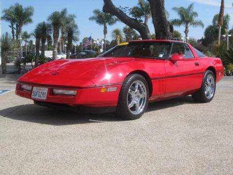 Flame Red 1988 Chevrolet Corvette Coupe with Red interior Flame Red