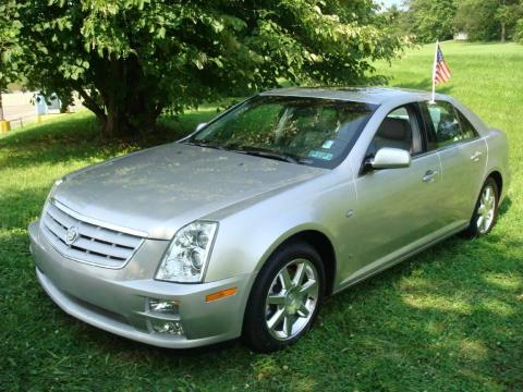 Silver Smoke Cadillac STS 4 V6 AWD.  Click to enlarge.