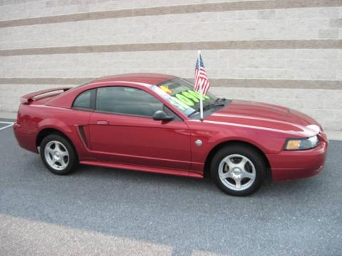 40th Anniversary Crimson Red Metallic 2004 Ford Mustang V6 Coupe with Dark