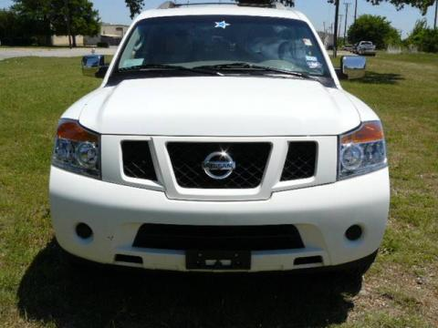 Blizzard White 2008 Nissan Armada SE with Almond interior Blizzard White