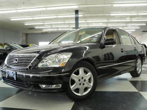 Black colored Lexus LS430 for