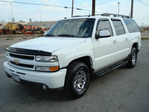 Summit White 2003 Chevrolet Suburban 1500 Z71 4x4 with Gray/Dark Charcoal