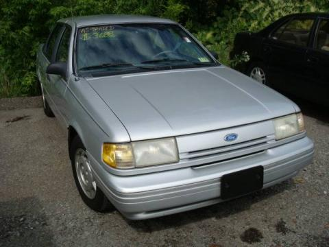 Silver Metallic 1993 Ford Tempo GL Sedan with Blue interior Silver Metallic