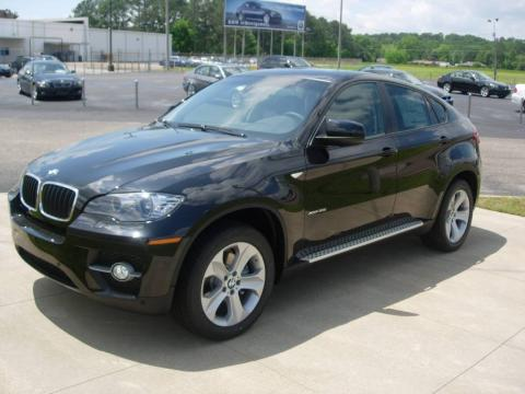 Jet Black 2009 BMW X6 xDrive35i with Black Nevada Leather interior Jet Black