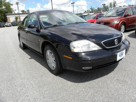 Black Clearcoat 2001 Mercury Sable LS Premium Sedan with Dark Charcoal