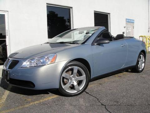 Blue Gold Crystal Metallic 2007 Pontiac G6 GT Convertible with Ebony