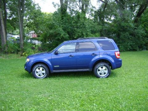 Vista Blue Metallic 2008 Ford Escape XLT with Stone interior Vista Blue