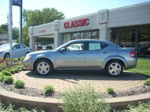 Silver Steel Metallic 2008 Dodge Avenger SXT with Dark Slate Gray/Light
