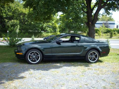 Highland Green Metallic Ford Mustang Bullitt Coupe.  Click to enlarge.