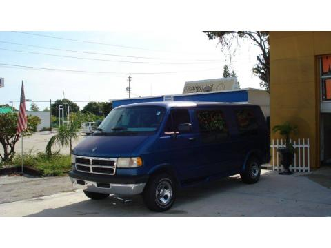 Medium Blue Metallic Dodge Ram Van 2500 Conversion.  Click to enlarge.