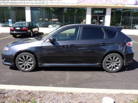 Dark Gray Metallic 2009 Subaru Impreza WRX Wagon with Carbon Black interior