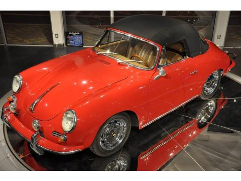 Guards Red Porsche 356 SC Cabriolet.  Click to enlarge.