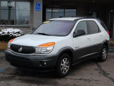 Bright White 2002 Buick Rendezvous CX with Dark Gray interior Bright White