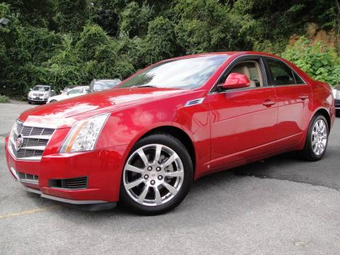 Crystal Red Cadillac CTS Sedan.  Click to enlarge.