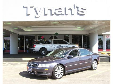 Oyster Grey Metallic 2005 Audi A8 L 4.2 quattro with Platinum interior