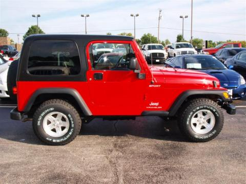 Used 2005 Jeep Wrangler Sport 4x4 For Sale Stock