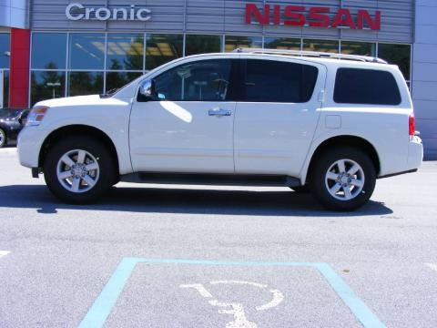 Blizzard White 2010 Nissan Armada SE with Almond interior Blizzard White