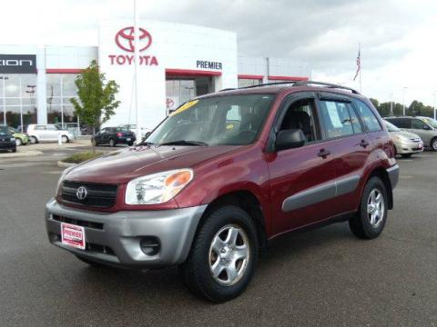Salsa Red Pearl 2004 Toyota RAV4 with Dark Charcoal interior Salsa Red Pearl