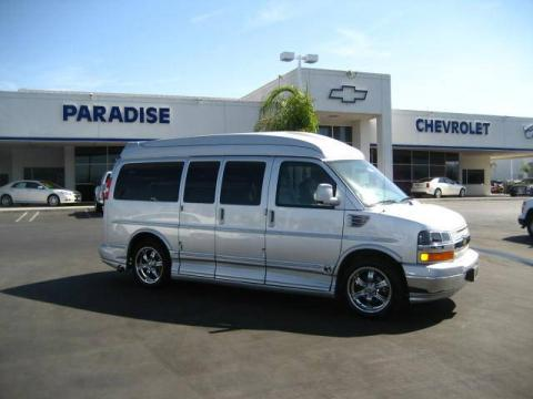 Sheer Silver Metallic 2010 Chevrolet Express LS 1500 Explorer Conversion Van