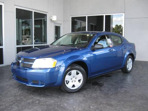 Deep Water Blue Pearl 2010 Dodge Avenger SXT with Dark Slate Gray interior