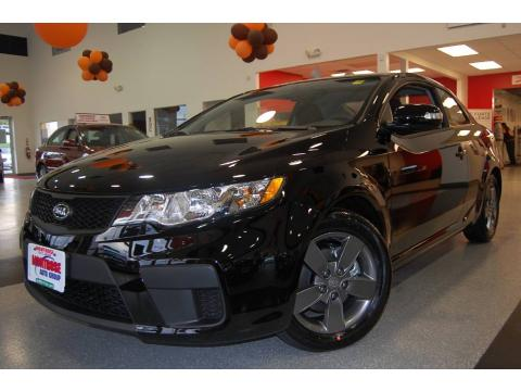 Ebony Black 2010 Kia Forte Koup EX with Black interior Ebony Black Kia Forte