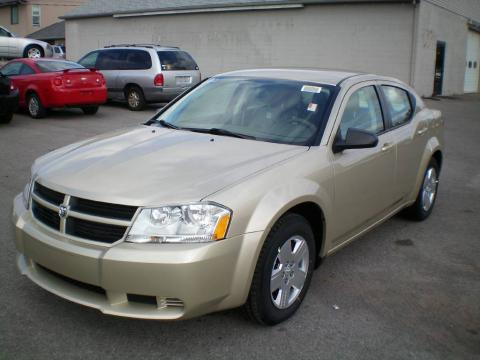 White Gold 2010 Dodge Avenger SXT with Dark Khaki/Light Graystone interior