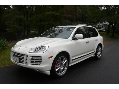 Sand White 2009 Porsche Cayenne Turbo S with Black/Havanna interior Sand