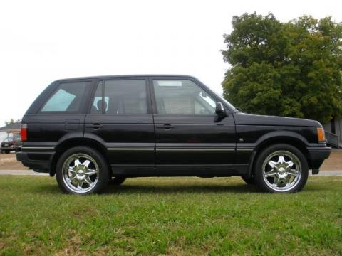 Java Black 2002 Land Rover Range Rover 4.6 HSE with Walnut interior Java